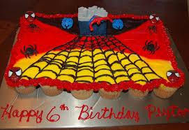 spider man cupcake cake cakecentral com
