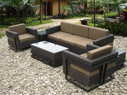 Patio Table Height by Outdoor U0026 Garden Resin Wicker Patio Furniture Set With Sofa