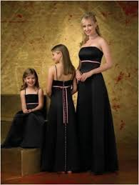 Pink And Black Bridesmaid Dresses Strapless Black Pink Bridesmaid Dress