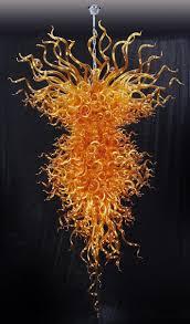 Blown Glass Chandeliers Orange Blown Glass Chandelier
