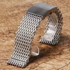 bracelet mesh images Shark mesh 22mm stainless steel bracelet vip jpg