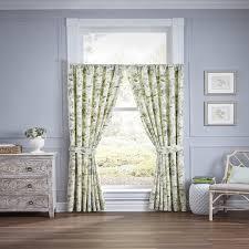 Waverly Curtain Panels Waverly Fleuretta Cotton Curtain Panel Pair Free Shipping Today