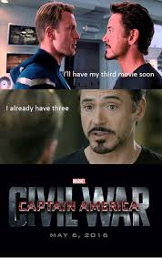 Tony Stark Meme - these civil war memes pits steve rogers and tony stark on a battle