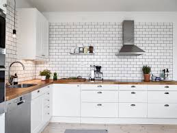 Modern White Kitchen Backsplash A White Tiles Black Grout Kind Of Kitchen Coco Lapine Design