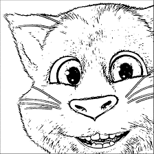 talking tom cat coloring pages wecoloringpage pinterest