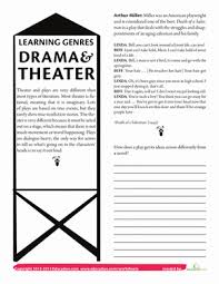 what is drama worksheet education com