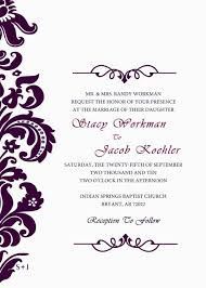 correct formal wedding invitation email format for wedding