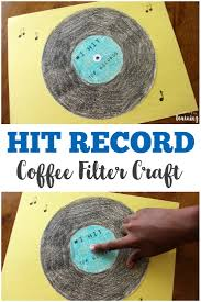 coffee filter crafts for kids coffee filter vinyl record craft