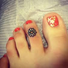 pretty daisy tattoo 3 daisy foot tattoo on tattoochief com