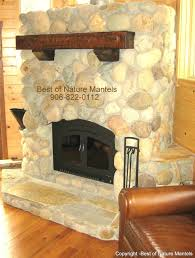 log fireplace mantels minnesota distressed add rustic quality