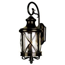 Shop Wall Sconces At Lowes by Shop Allen Roth 20 1 2 In Bronze Outdoor Wall Mounted Light At