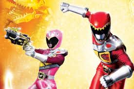 red pink rangers talk u0027power rangers dino charge u0027