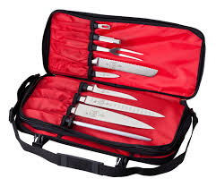 amazon com mercer culinary double zip 17 pocket knife case knife