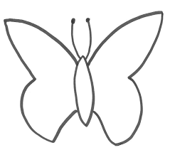 basic butterfly template i use this to make chocolate butterflys