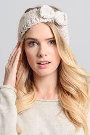 bow headband winter knit bow headband