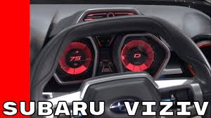 subaru viziv interior subaru viziv future concept instrument cluster and interior youtube