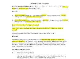 Non Disclosure Statement Template by Non Disclosure Agreement Template Uk Template Agreements And