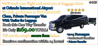 Car Service From Orlando Airport To Port Canaveral Passenger Van 12 14 Pass One Way From Orlando Airport To Port
