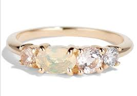 opal wedding ring 33 beautiful opal engagement rings unique opal engagement rings