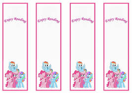5 best images of my little pony printable bookmarks my little