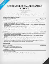 accounts receivable professional resume cover letters banking