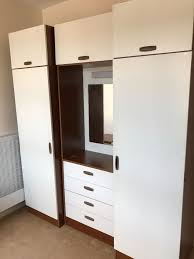 Dressing Wardrobe by Bedroom Set 2 Wardrobes With Middle Cupboard And Dressing Table