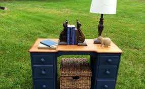 desk makeover with menards chalk paint hometalk