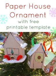paper house ornament template 20 days of kid made ornaments