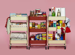 9 ways to organize a kitchen without many or any cabinets