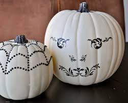 white pumpkins pumpkin vase black and white mercury glass paint