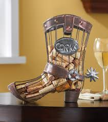 cool western table decor ideas cowboy boot wine cork holder wrough decoration cool western table decor ideas cowboy boot wine cork holder wrough iron material cork cage