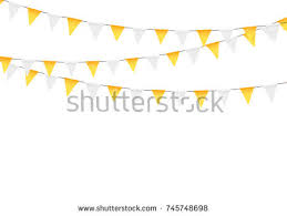 thanksgiving bunting flags decorations stock vector