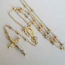 gold cross rosary necklace images 14k gold rosary necklace ebay jpg