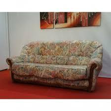 canapé lit tissu canapé lit convertible tissu fleuri bois apparent couchage 140 cm n127