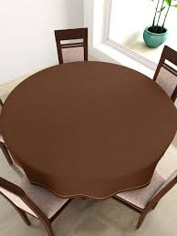 Coffee Table Cloth by Buy Swayam Coffee Brown Round 72