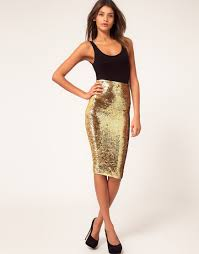 70 stylish pencil skirt examples for you gold pencil