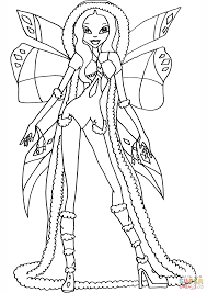 winx club aurora coloring page free printable coloring pages