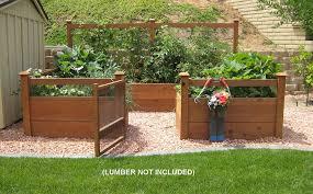 amazon com just add lumber vegetable garden kit 8 u0027x12 u0027 deluxe