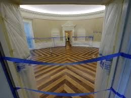 Obama Oval Office Decor Photos White House Oval Office Under Construction Business Insider