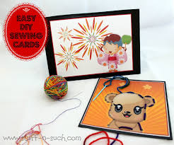 stuff n such by lisa diy sewing cards for kid u0027s