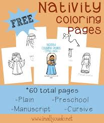 free nativity coloring pages 60 pages