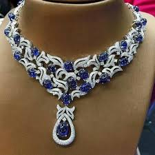 sapphire necklace price images Myanmar royal blue sapphire necklace with diamonds diamonds jpg