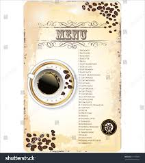 coffee shop menu template coffee shop menu template stock vector 121159855