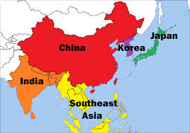 asia map asia map colorful asian regions united nations geoscheme 31401299