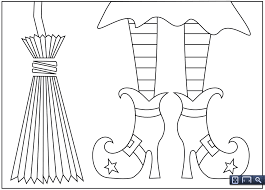 9 fun free printable halloween coloring pages witch shoes