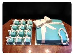 tiffany gift box cake and ring box cupcakes cakecentral com