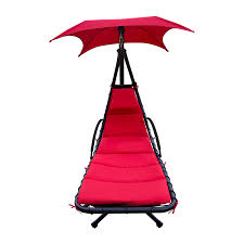 Hanging Chaise Lounge Chair Hanging Chaise Lounger Chair Air Porch Floating Swing Hammock Arc