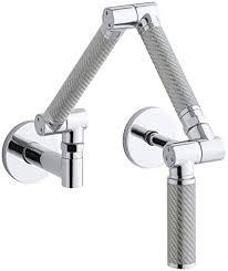 Kohler Wall Mount Kitchen Faucet Kohler K 6228 C11 Cp Karbon Wall Mount Kitchen Faucet With Silver