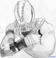 how to draw bane from the dark knight rises step by step dc