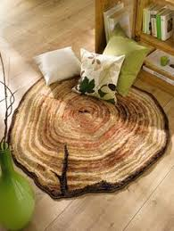 Wood Area Rug Sliced Log Rug My New Obsession Pinterest Logs